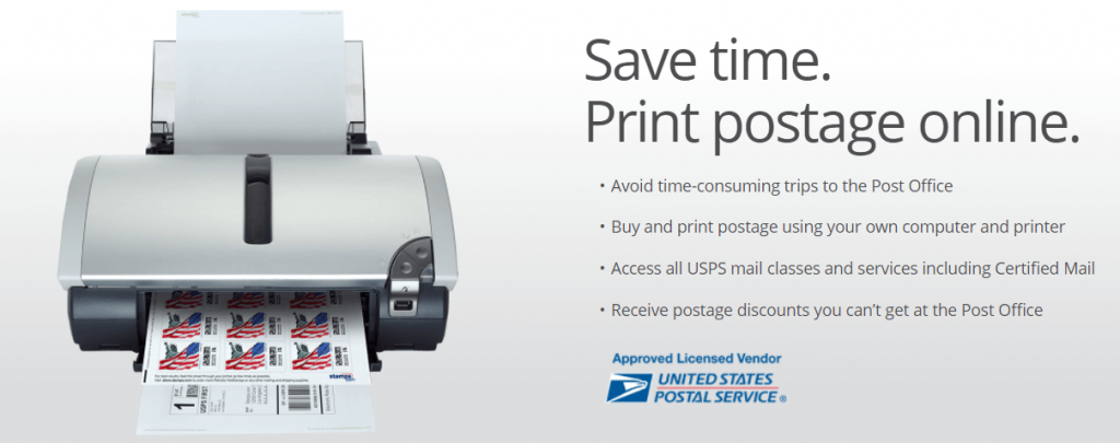 how to print postage stamps online