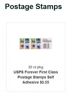 does giant sell postage stamps